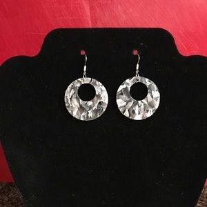 Jewelry - New! Hand Crafted Sterling Mottled Hoop Earrings